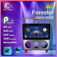 Prelingcar para android para subaru alerón Forester 2004-2008 monitor de coche Radio reproductor de vídeo Multimedia navegación GPS DSP ESTÉREO