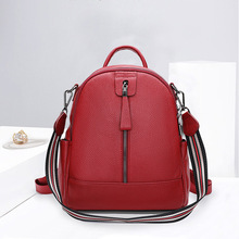 Fashion Female Backpacks 100% Real Genuine Cow Leather Women Bags Ladies Casual Travel Daypack Bag Girl Preppy Style Schoolbag
