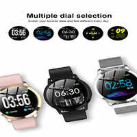 CF18 tempered mirror smart sports pedometer fitness watch blood pressure heart rate monitoring running step counter bracelet