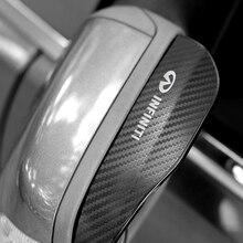 2 шт. ПВХ Наклейка на зеркало заднего вида с защитой от дождя уплотнитель авто зеркало дождь щит для Infiniti FX35 Q50 Q30 эсквайр QX50 QX60