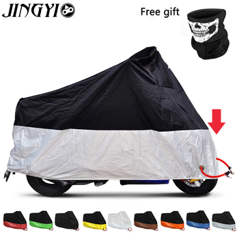 JINGYI Motorcycle Covers Outdoor Anti-UV Motorbike Dust Proof Motor Bike Scooter Protector Covering Rain Cover For All Moto 265x105x125 xxl 210d waterproof protector motorcycle covers for universals scooter motor bike dirt outdoor cover coat