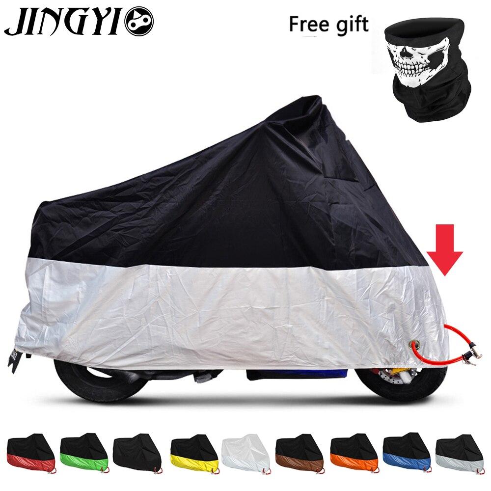 JINGYI wodoodporny pokrowiec na motocykl Outdoor Uv Protector Bike deszcz ochrona przeciwpyłowa motocykl Motor motorower Cover M-4XL