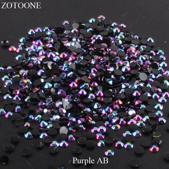 ZOTOONE FlatBack Non HotFix Resin Nail Art Black AB Rhinestones Strass Crystal Applique Glue On Stones For Clothes Decoration E 1300pcs glitter rhinestones crystal ab non hotfix flatback nail rhinestones strass gem nail art decoration
