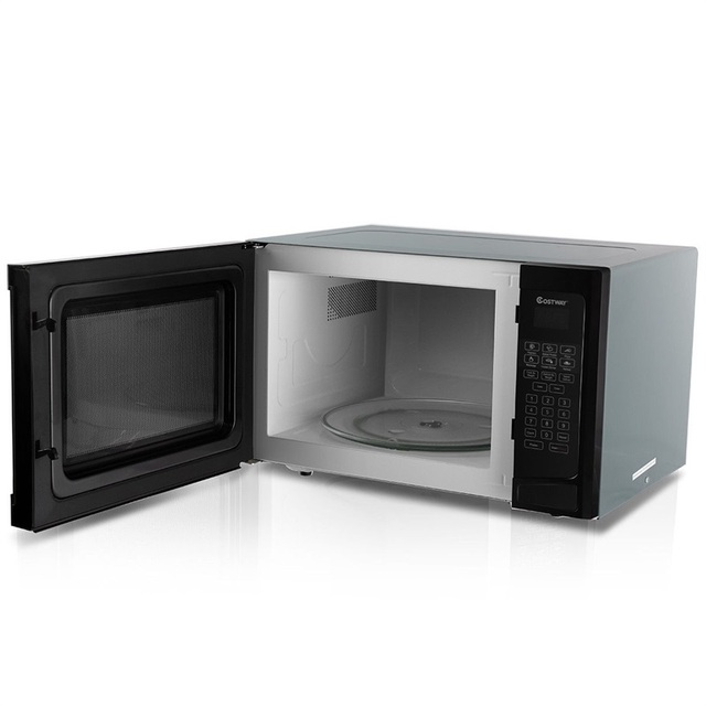 COSTWAY 1.1 CuFt Programmable Microwave Oven 1000W LED Display 6 Quick Cook Setting Sensor Reheating Microwave Ovens For Kitchen 4