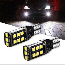 2x t15 w16w lâmpadas 2835 smd canbus obc livre de erros luzes led carro backup luz 921 912 lâmpada reversa xenon branco dc12v