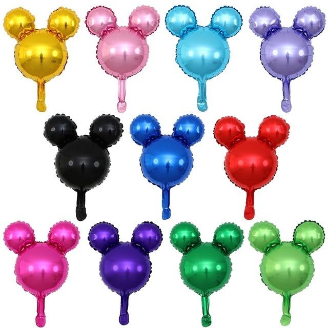 GIHOO 5/10pcs Mini Head Aluminum Foil Balloons Childrens Day Toy 30x45cm Cartoon Balloon Child Birthday Party Decoration