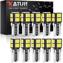 Katur 10x w5w luz de afastamento t10 led canbus lâmpada led 194 168 luzes interiores do carro para ford focus 2 mondeo mk1 mk2 mk3 mk4 s-max