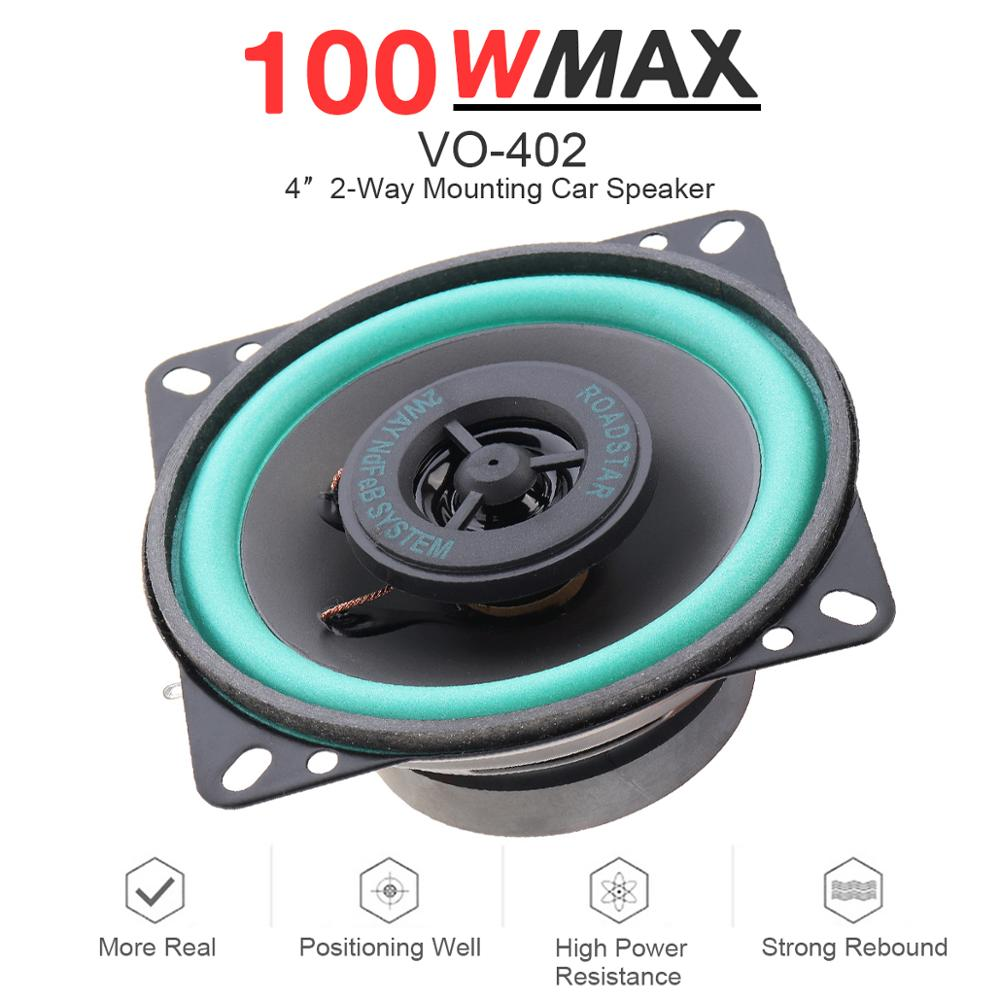 1pcs 4 Inch 100W Car HiFi Coaxial Speaker Vehicle Dashboard Front Door Auto Audio Music Stereo Full Range Frequency For Car Auto