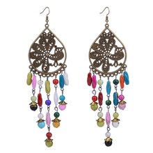 Bohe Bohemian 12cm Colorful Super Long Tassel Earrings For Women Water Drop Jewelry Bijouterie
