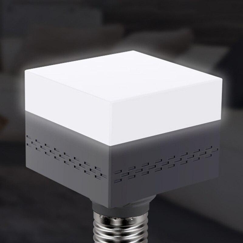 5W/9W E27 Lamp Bulb Power Energy Saving LED Light Indicator Rotating Portable Square Shape Fixture Home Decoration Edison Lamp @