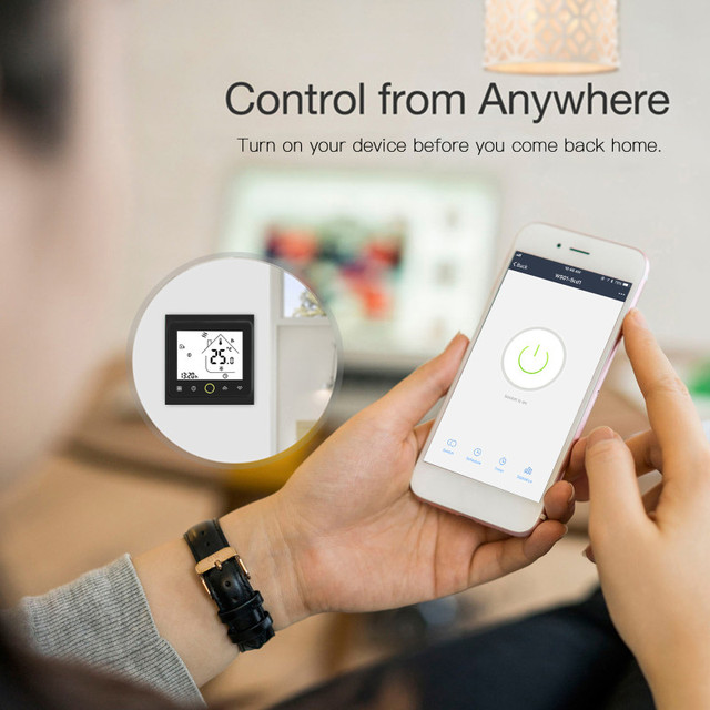 WiFi Smart Thermostat Temperature Controller for Water/Electric floor Heating Water/Gas Boiler Works with Alexa Google Home 3