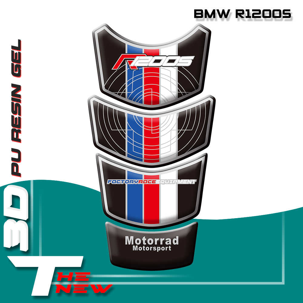 For BMW R1200S 2006-2009 Motorcycle Tank Sticker Fuel Tank Pad Decals 3D Sticker