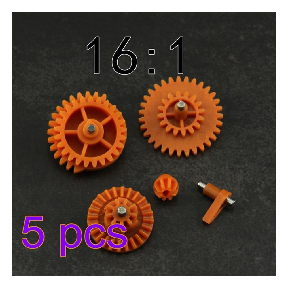 MODIKER 5/10/20/50pcs 16:1 High Speed Nylon Gear Set For JM Gen.8 9 10 / Jingji SLR Water Gel Beads Blaster - Orange