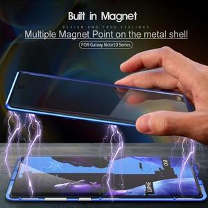 Image 2 - קדמי + אחורי דו צדדי מזג זכוכית מקרה לסמסונג גלקסי הערה 10 + 5G S9 S8 S10 בתוספת S10E הערה 10 בתוספת 5G 9 8 מגנטי מקרה