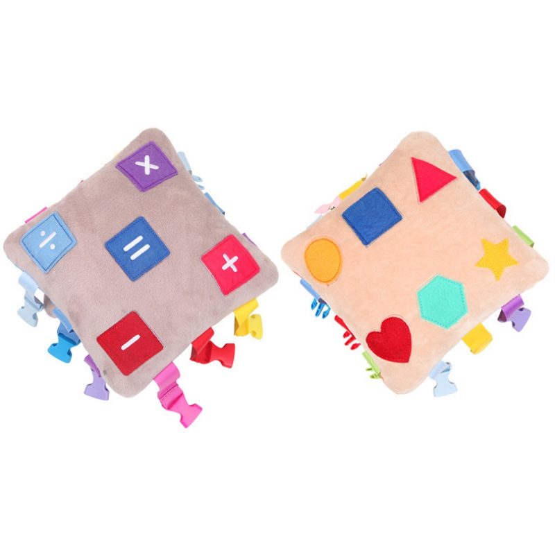 Toddler Baby Learning Toys Infant Kids Early Education Toy Basic Life Skills Teaching Buckle Plush Toy