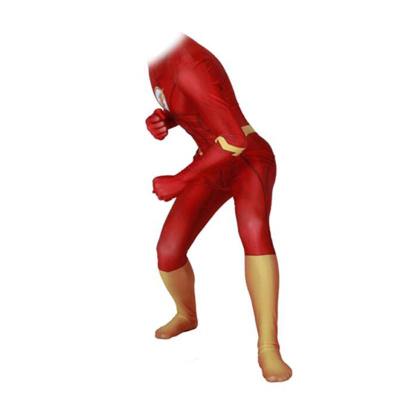 Flash homme Anime halloween costume nouvel an vêtements costume enfants corps mujer body moulante combinaison combinaisons deux pièces ensemble. - 4