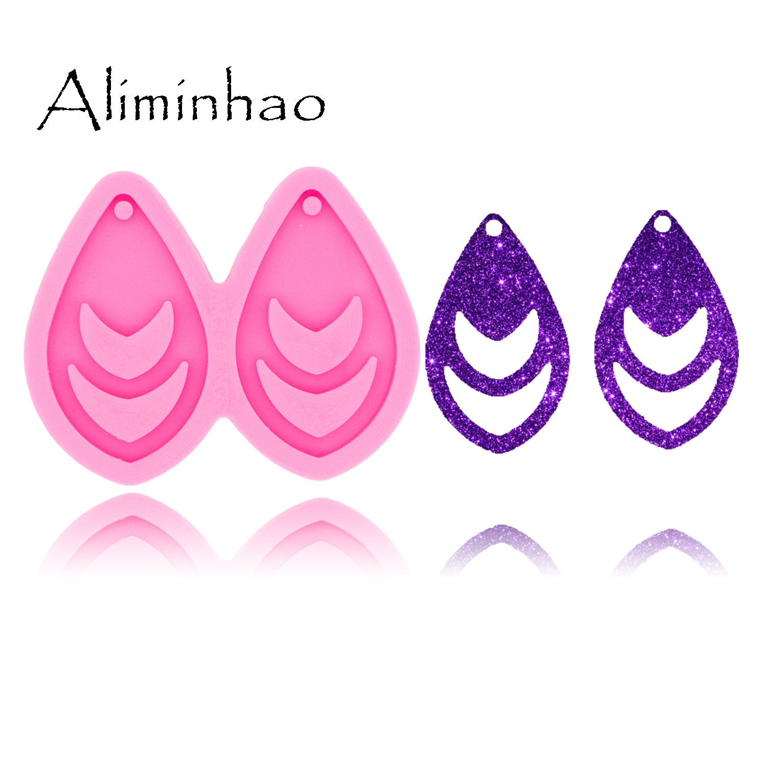 DY0431 L/M/S Tassel Tear Drop Hoop Earrings Handmade DIY Epoxy Silicone Molds Fashion Jewelry Resin Craft Mould