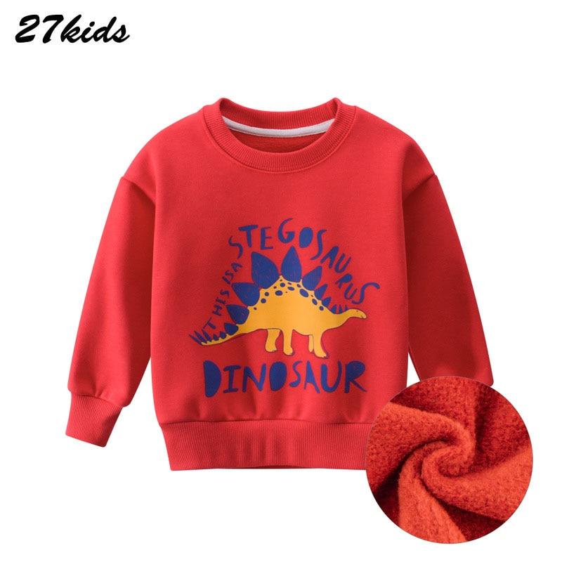 Animal pattern Autumn Winter Kids Sweatshirts Clothes For Toddler Children Cartoon Boys Dinosaur Shirt Tops Outfits Clothes 3