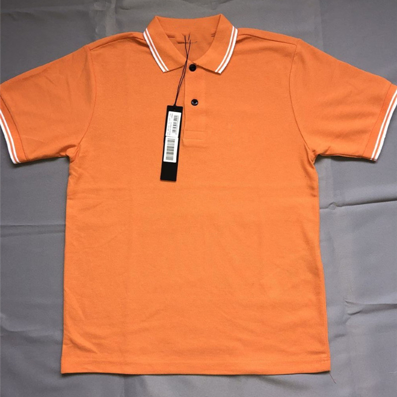Stone IS LAND MEN CP brand short sleeve polos shirts High quality pure cotton solid color Male polos casual slim mens tops