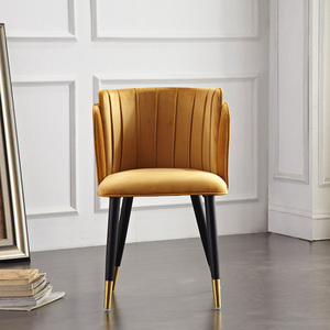 Image 4 - Modern Formal Dinning Chairs Creative Solid Wood Makeup Chair European Fabric Office Meeting Office Shop Chair Furniture