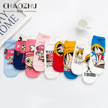 CHAOZHU 10 Colors Japanese Comic One Piece Choba Cute New Arrive Ankle Socks Cotton Knitting Casuals Spring Summer Fall Girl Sox - discount item  10% OFF Women's Socks & Hosiery