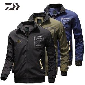 Daiwa для рыбалки, куртка для мужчин, пальто, повседневная одежда, карман для улицы, пешего туризма, дышащая рубашка для рыбалки, Спортивная оде...