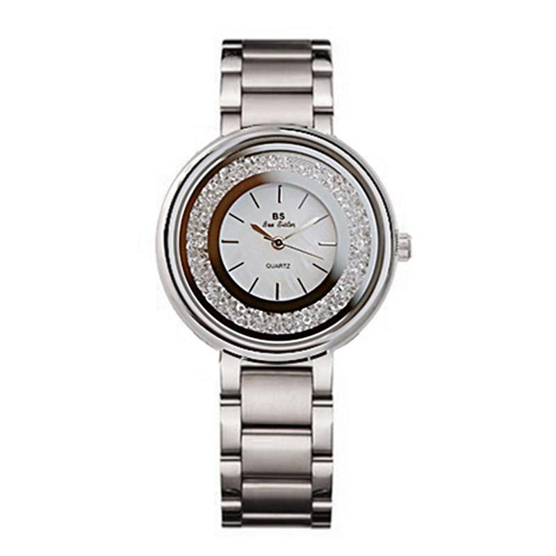 Classic Silver Women Watches Luxury Full Diamond Women Bracelet Watch Ladies Rhinestone Casual Quartz Watch Clock Zegarek Damski