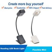 1 pçs flexível mini diodo emissor de luz livro leitura leitor de noite lâmpada de mesa computador telefone tablet notebook e-reader para kindle