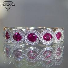Для женщин s925 Рубин Изумруд циркон кольцо ювелирные изделия