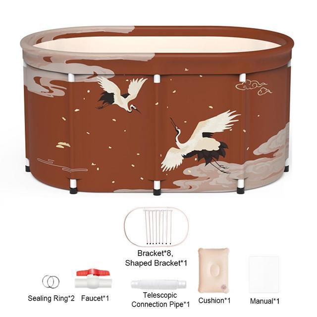 Seau de bain pliable avec couvercle, grand seau de bain Portable pour adultes, outil de SPA, baril de bain dextérieur pour enfants