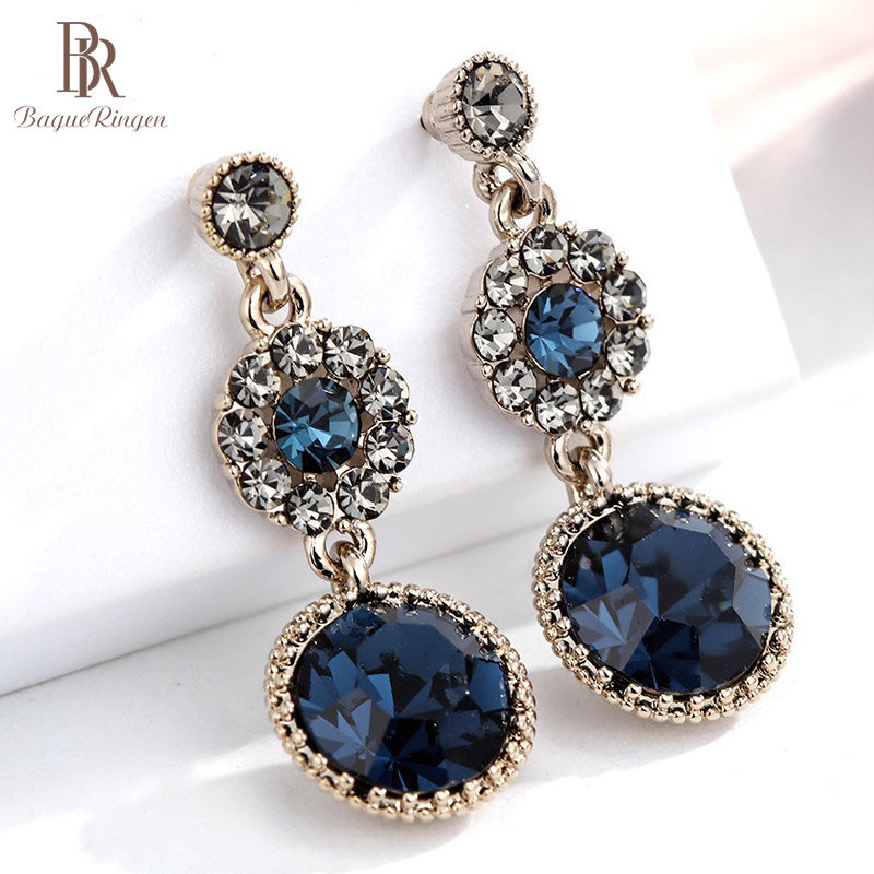 Bague Ringen French Elegance Lady Silver 925 Jewelry Delicate Gemstone Earrings For Women Vintage Individual Character Ear Drops