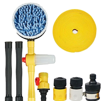 1 Set Of Automatic Car Wash Foam Brush Professional Spray Rotating Brush Portable Automatic Cleaning Tool Washing Switch Water F
