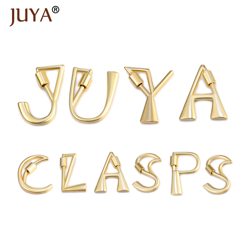 Juya DIY Jewelry Making Accessories Trendy Popular Letter Lock Hook Spiral Clasps DIY Necklace Bracelets Hand Mad  Hanging Chain