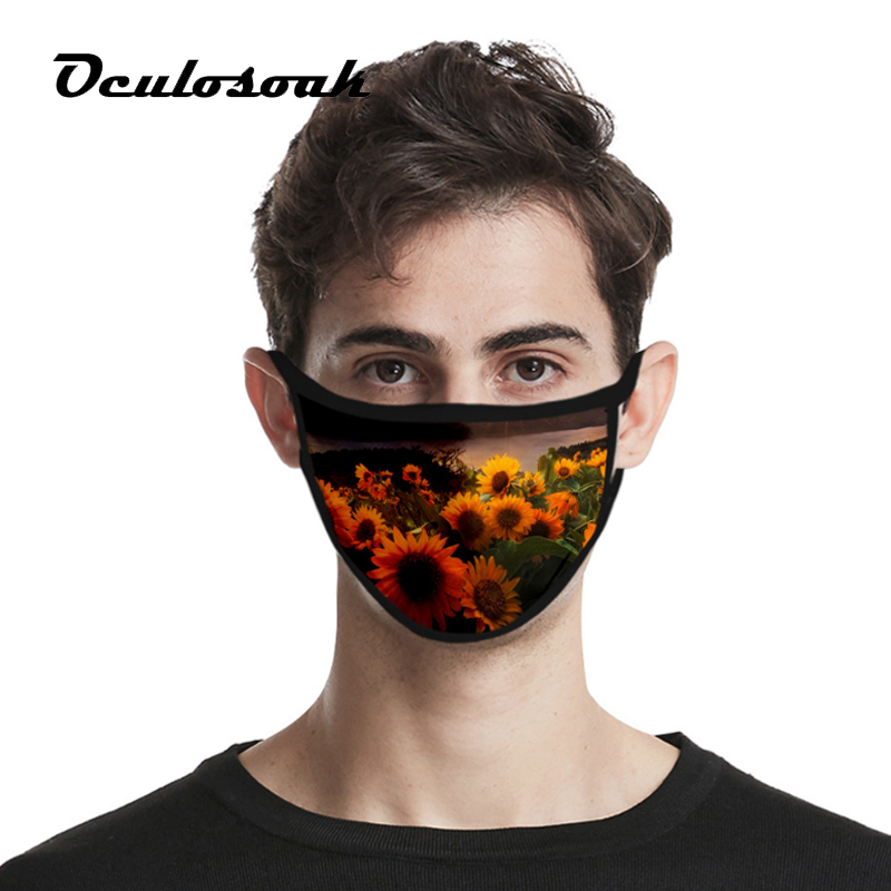 New Product Sunflower 3D Digital Printing Fashion Personality High-elastic Fabric Washed And Reusable