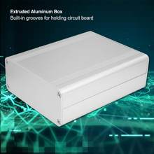 Pasir Perak Aluminium Ekstrusi Kandang Tahan Air PCB Alat Proyek Elektronik Kotak Case DIY Junction Box 38X88X110 MM(China)