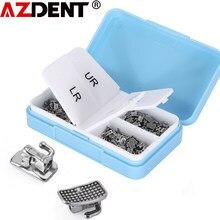 Tube Buccal dentaire AZDENT, 200 pièces/1 boîte, 1ère molaire, collable, monobloc, Non Convertible, MBT/Roth 0.022