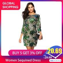 Платье Versear женское по фигуре с блестками блестящееПлатья    АлиЭкспресс