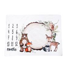 Детская ежемесячная запись роста векового одеяла пеленка для