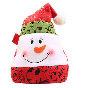 Christmas Hat Cute Decoration Ornaments Christmas Party Xmas Costume Accessories Non-Woven Embroider