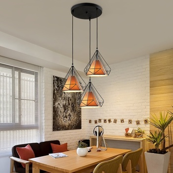 LED Ceiling Down Light Iron Chandelier LED Down Light Walkway Fixture Pyramid Kitchen Bedroom Energy Saving Retro
