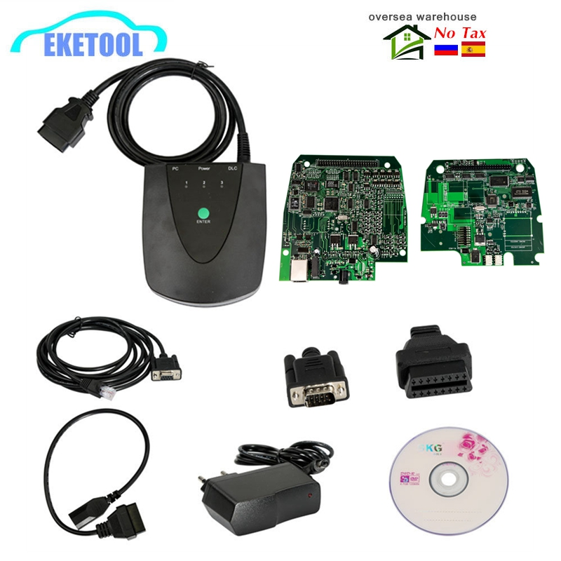 New V3.102.051 For Honda HDS HIM Diagnostic System Tool For HONDA Interface Module Green Double PCB With RS232 Stable Quality