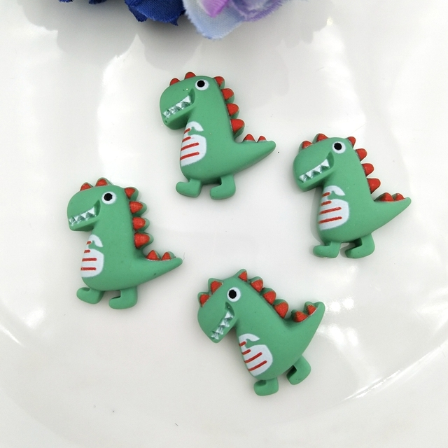 Resin Cute cartoon dinosaur Flat Back Stone Appliques Home Decor Crafts 12pcs DIY Wedding Scrapbook 4