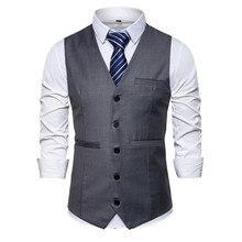 Мужской жилет высокое качество бизнес жилет жилет мужской европейский размер блейзер жилет 6 размер 9 цвета