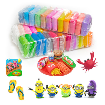 truecolor children ultra light clay 24 32color non toxic rubber crystal color clay space snow clay sand set 36 Color Light Soft Clay DIY Toys Children Educational Air Dry Polymer Plasticine Safe Colorful Light Clay Toy Gift To Kids