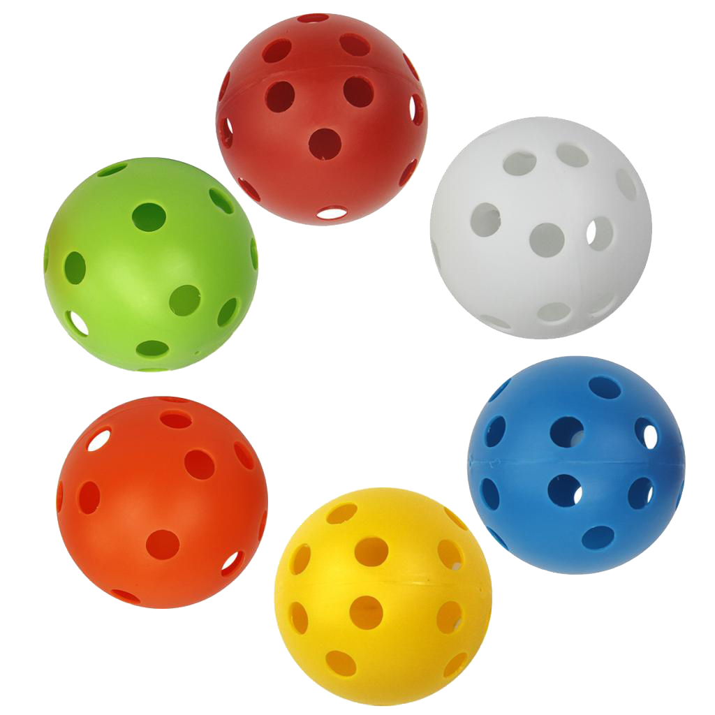 6pcs Plastic Golf Training Balls Golf Practice Balls Golf Accessories Training Aids for Driving Range/Swing Practice at Home