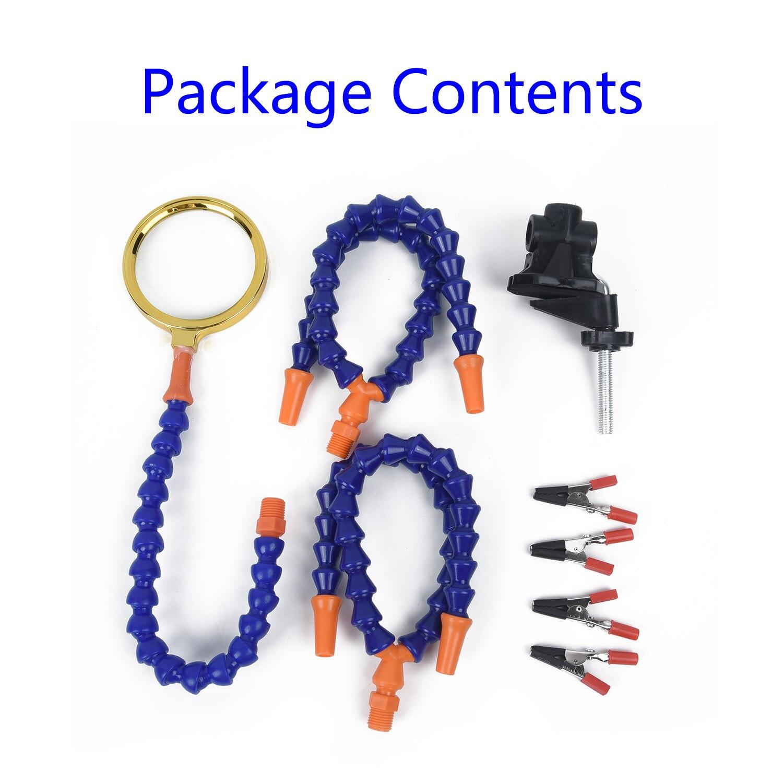 Flexible Arms 3rd Hand Soldering Station PCB Holder Desk Clamp Base Tools Set
