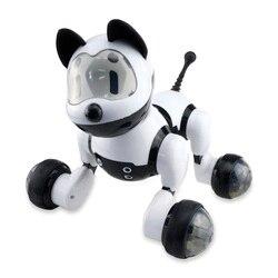 Mg010 controle de voz inteligente robô cão modo livre cantar dança robô eletrônico cachorro ao ar livre indoor crianças diversão educacional para jogar brinquedos