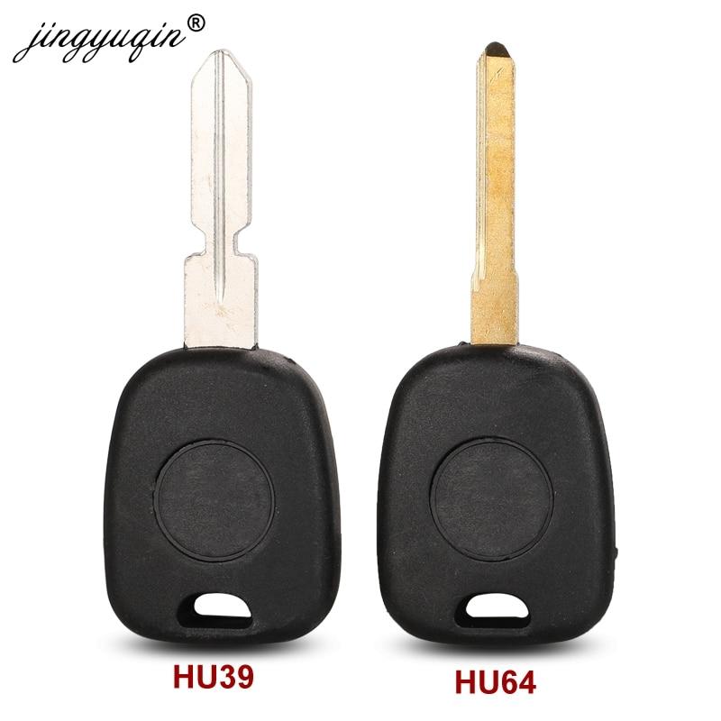 Jingyuqin kesilmemiş HU39 HU64 itmeli anahtar uzaktan otomatik Transponder anahtar kabuk Mercedes Benz araba için anahtar kapağı kılıfı değiştirme