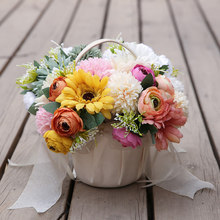 Hot Gerbera Hydrangea Bunch Artificial Flower Fake Hydrangea Artificial Flower Decoration Home Wedding Table PLD(China)