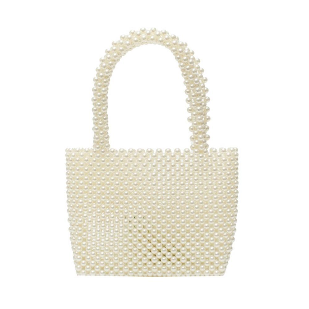 New Small Bag Ladies Beaded Shoulder Bag Ladies Party Retro Handbag Ins Small Flip Bag Small  Pearl Bag Banquet Wedding Handbag